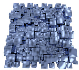 Abstract background of metallic cubes