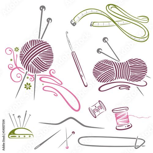 Free Knitting Icons Clipart : Quot handarbeiten stricken wolle häkeln nähen stockfotos