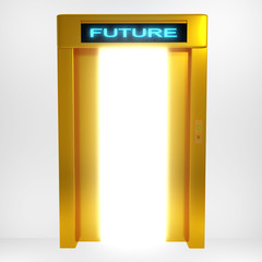 Concept a bright future rendered