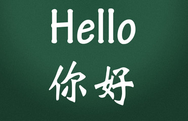 hello title write in chinese