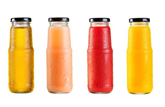 different bottles of juice