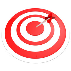 Target with arrow isolated