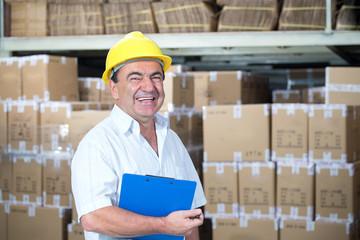 storekeeper at work in warehouse
