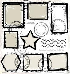 Set of post stamp