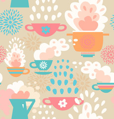 Creative seamless kitchen pattern