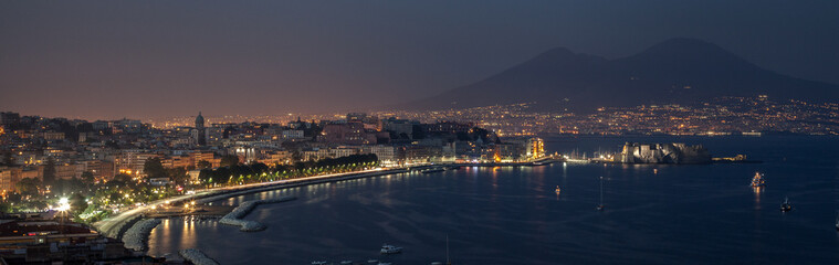 Foto op Plexiglas Napels Night bay of Naples