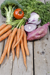 Organic farm food or biological eco friendly food