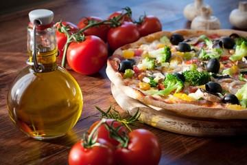 Foto auf Acrylglas Pizzeria Pizza