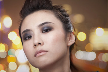Young Woman with Smoky Eyes