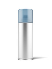 Blank aluminum spray can