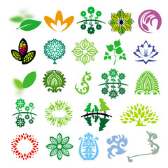 collection of vector signs ecology of nature