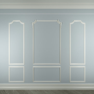 molding on white wall