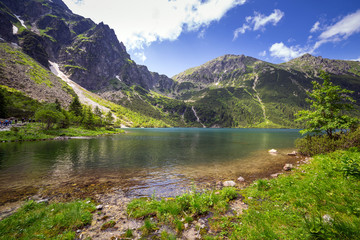 Wall Mural - Beautiful scenery of Tatra mountains and lake in Poland