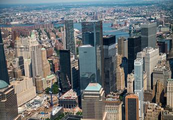 Skyscrapers and skyline of lower Manhattan, New York City
