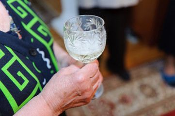 Grandmother with Champagne