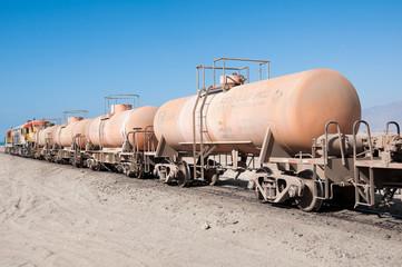 Cargo train, Atacama desert (Chile)