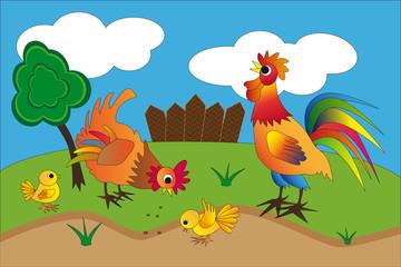 Poster de jardin Papillons Poultry