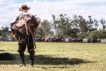 Gaucho in the campo, Maldonado, Uruguay