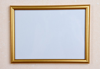 Photo frame on wall background