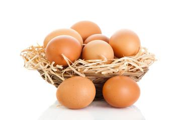 eggs isolatedon white background