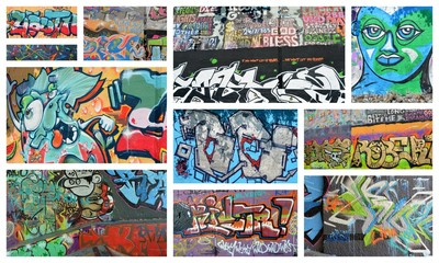 Photo sur Plexiglas Graffiti collage collage...graffiti