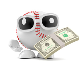 Baseball gets paid in US Dollars