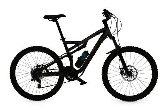 Mountain bike silhouette