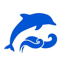 Fond de hotte en verre imprimé Dauphins Dolphin Silhouette