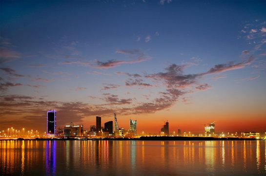Spectacular HDR photograph of Bahrain Skyline