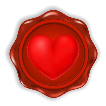 heart with wax seal