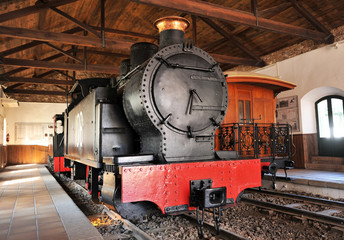 Old steam locomotive, mining train, Rio Tinto