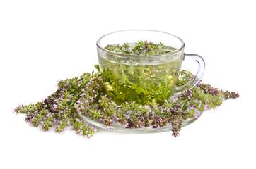 Wall Mural - Green thyme tea