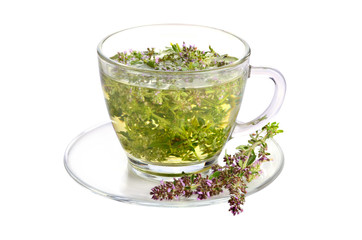 Fototapete - Cup of thyme tea