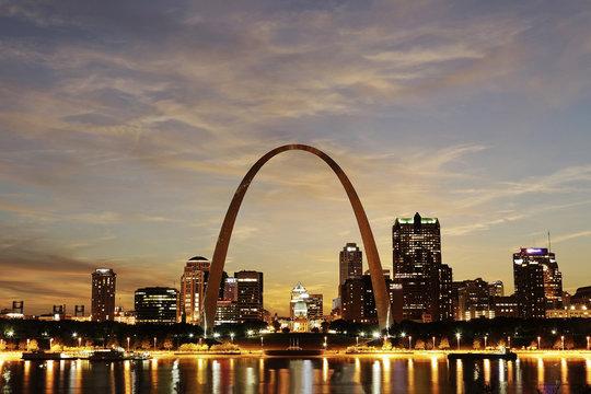 St. Louis Skyline at twilight, Missouri
