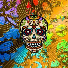 Sugar Skull, Mexiko, Totenkopf, Hintergrund