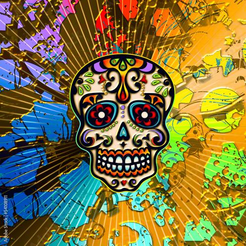 sugar skull mexiko totenkopf hintergrund stockfotos und lizenzfreie bilder auf. Black Bedroom Furniture Sets. Home Design Ideas