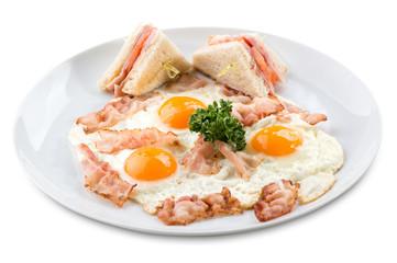 traditional breakfast of scrambled eggs