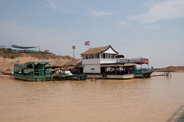 On banks of river near Tonle Sap Lake