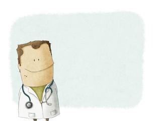 illustration cute doctor
