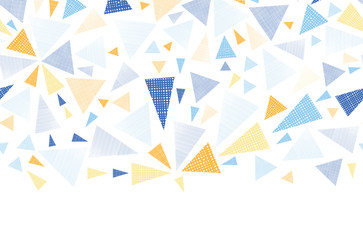 Vector colorful textured arrows triangles horizontal seamless