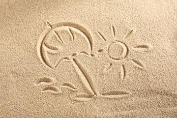 sun on sand