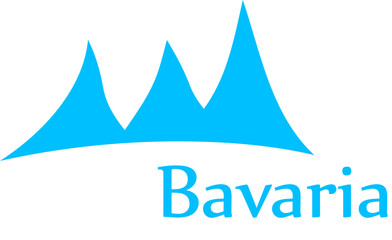 A nice Bavaria graphic with mountains