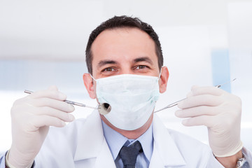 Portrait Of Male Dentist