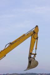 Excavator arm on the horizon