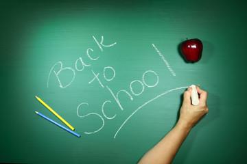 Back to School Written on a Chalkboard