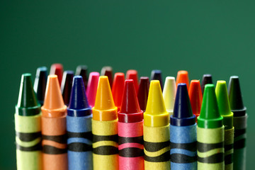 Colorful Back to School Crayons