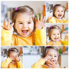 Bambina che ride  Collage
