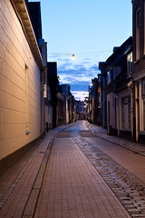 Fotomurales - street in Dutch city at night