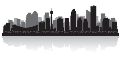Wall Mural - Calgary Canada city skyline vector silhouette