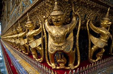 Golden Decoration in Wat Prakeaw Temple Bangkok, Thailand